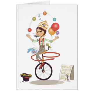Homem musical mágico (notecard) cartão comemorativo