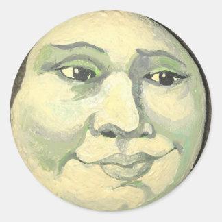 Homem na etiqueta da lua