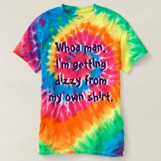 Homem Trippy das camisetas engraçadas da tintura