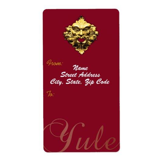 Homem verde dourado - Tag da etiqueta & do Etiqueta De Frete