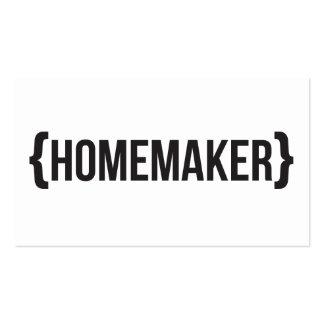 Homemaker - suportado - preto e branco cartão de visita