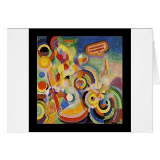 Homenagem a Bleriot por Robert Delaunay Cartão Comemorativo