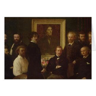 Homenagem a Delacroix, 1864 Cartão Comemorativo