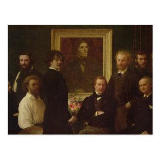 Homenagem a Delacroix, 1864 Cartão Postal