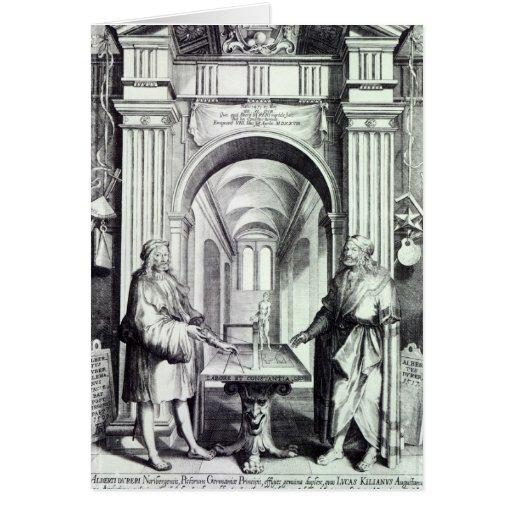 Homenagem a Durer, c.1628 Cartão