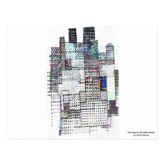 Homenagem a Hundertwasser Cartão Postal