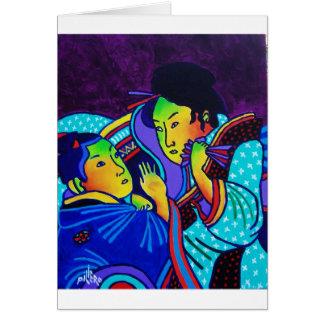 Homenagem a Japão um Cartão Comemorativo