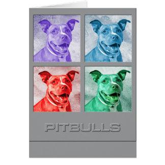 Homenagem a Pitbulls Cartão Comemorativo