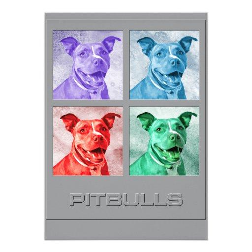 Homenagem a Pitbulls Convite Personalizado