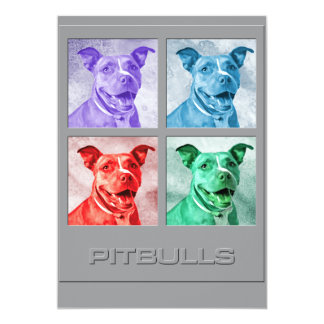 Homenagem a Pitbulls Convite 12.7 X 17.78cm