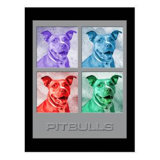 Homenagem a Warhol Pitbulls Cartões Postais