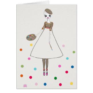 Homenagem ao cartão da arte dos pontos