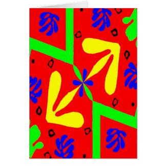 Homenagem ao design de Matisse Cartão Comemorativo