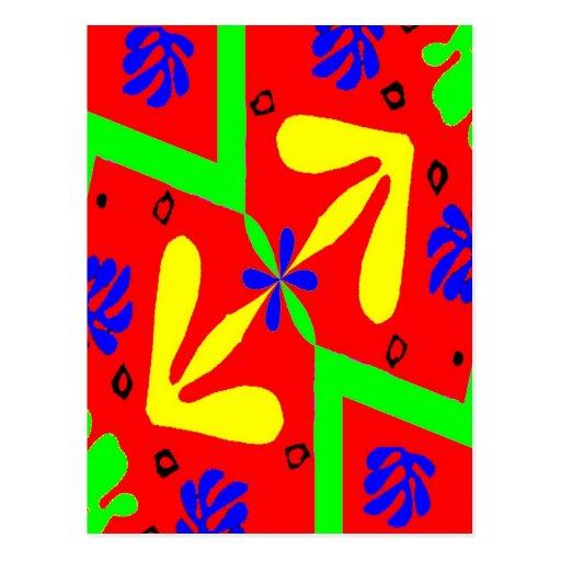 Homenagem ao design de Matisse Cartão Postal