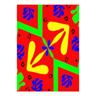 Homenagem ao design de Matisse Convites Personalizado