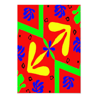 Homenagem ao design de Matisse Convite 12.7 X 17.78cm
