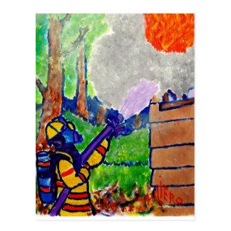 Homenagem aos sapadores-bombeiros por Piliero Cartão Postal