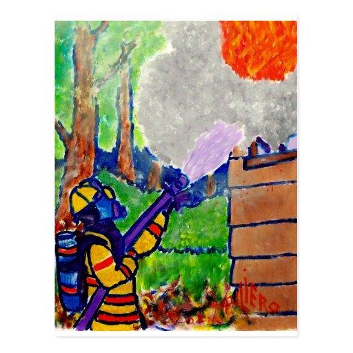 Homenagem aos sapadores-bombeiros por Piliero Cartao Postal