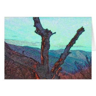 homenagem azul do cume cartão comemorativo