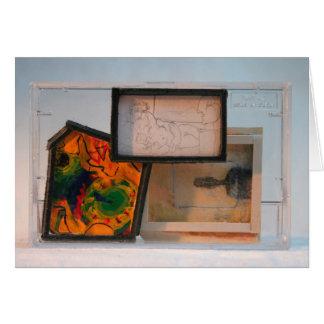 Homenagem das miniaturas a 2 meios mistos do cartão comemorativo