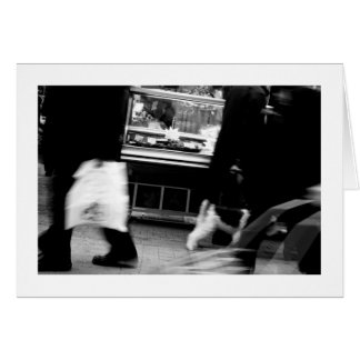 Homenagem de Daguerre Paris 14eme da rua a Agnes Cartão Comemorativo