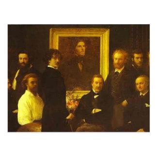 Homenagem de Henri Fantin-Latour- a Delacroix Cartoes Postais