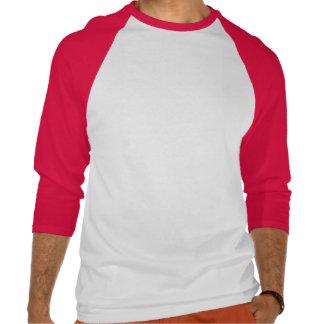 Homens 3/4 de raglan da luva com amor da palavra t-shirts