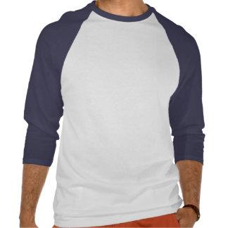 Homens 3/4 de raglan da luva com amor da palavra camiseta
