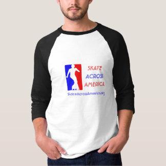 Homens 3/4 de Raglan da luva - skate através de Camisetas