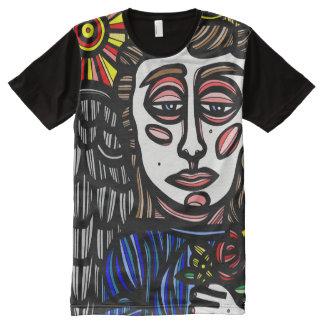Homens americanos do roupa da arte do abstrato 631 camisetas com impressão frontal completa