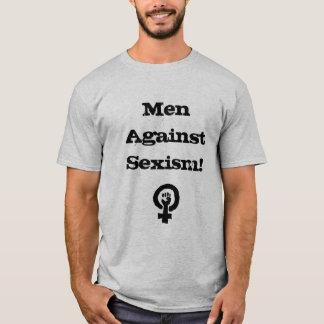 Homens contra a camisa do sexismo