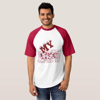 Homens das camisas do Raglan