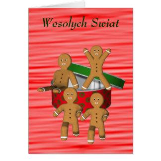Homens de pão-de-espécie poloneses do cartão do