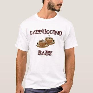 Homens do bebê do Cappuccino, camisa das senhoras Tshirt