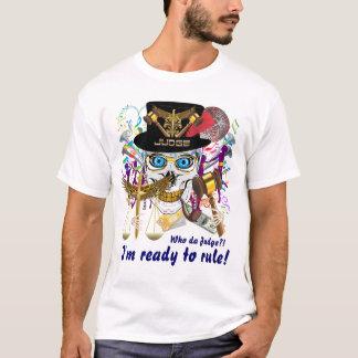 Homens do juiz do carnaval toda a luz dos estilos camiseta