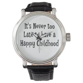 Homens felizes do relógio da infância