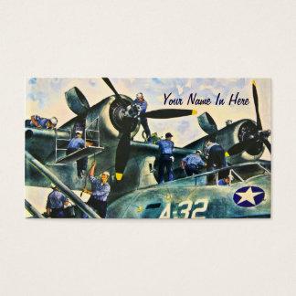 Homens no vintage do trabalho cartão de visitas