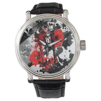 Homens pretos & areias vermelhas do relógio do
