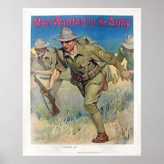 Homens queridos para o exército poster