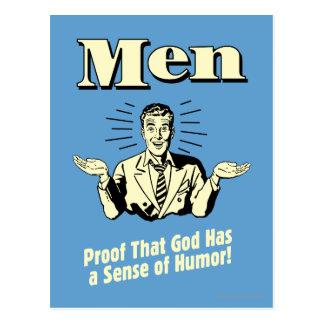 Homens: Sentido de humor Cartão Postal