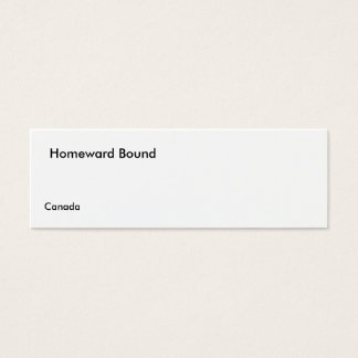 Homeward o cartão do b