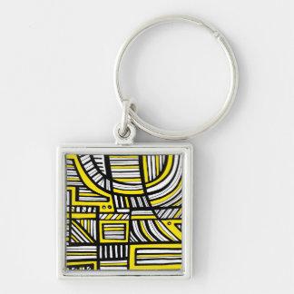Honesto fantástico comunicativo conhecedor chaveiro quadrado na cor prata