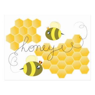 honey cartão postal