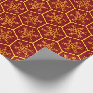 Honeycomb drawing pattern papel de presente