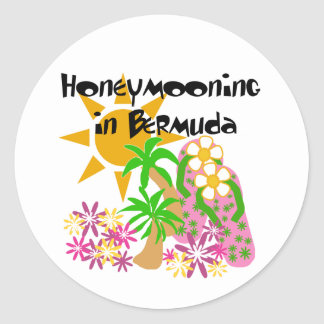 Honeymooning em Bermuda Adesivo