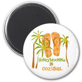 Honeymooning em Cozumel Ímã Redondo 5.08cm