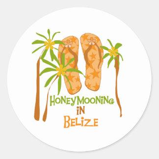 Honeymooning na etiqueta de Belize Adesivo