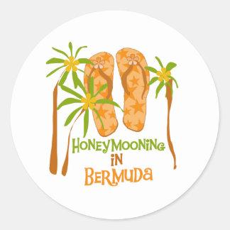 Honeymooning na etiqueta de Bermuda Adesivo