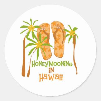 Honeymooning na etiqueta de Havaí Adesivo
