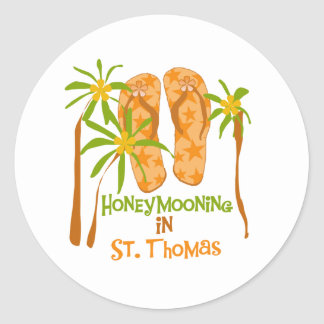Honeymooning na etiqueta de St Thomas Adesivo